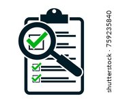 checklist magnifying assessment.... | Shutterstock .eps vector #759235840