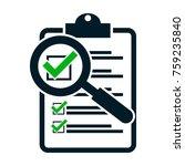 checklist magnifying assessment.... | Shutterstock .eps vector #759235840