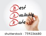 Small photo of BAR - Best Available Rate, acronym business concept