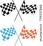 race flag various designs ... | Shutterstock .eps vector #759237868
