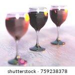 3d rendering of wine glasses | Shutterstock . vector #759238378