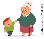 little boy helps the... | Shutterstock .eps vector #759238489