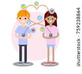 cartoon flat illustration  ... | Shutterstock .eps vector #759238864