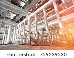 equipment  cables and piping as ... | Shutterstock . vector #759239530