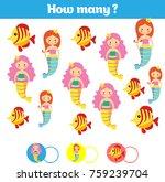 counting educational children... | Shutterstock .eps vector #759239704