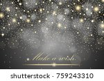 vector gold glitter particles... | Shutterstock .eps vector #759243310