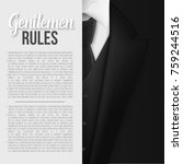 illustration of black suit.... | Shutterstock . vector #759244516