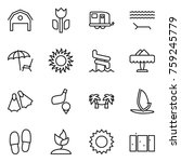 thin line icon set   barn ... | Shutterstock .eps vector #759245779
