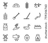 thin line icon set   windmill ...   Shutterstock .eps vector #759246760