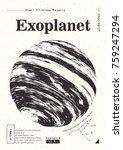 exoplanet informative poster.... | Shutterstock .eps vector #759247294