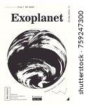 exoplanet informative poster.... | Shutterstock .eps vector #759247300