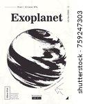 exoplanet informative poster.... | Shutterstock .eps vector #759247303