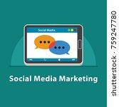seo social media marketing in... | Shutterstock .eps vector #759247780