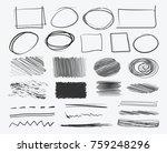 hand drawn sketched frames ... | Shutterstock .eps vector #759248296