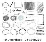 hand drawn sketched frames ... | Shutterstock .eps vector #759248299