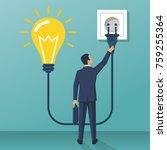 connect idea. businessman... | Shutterstock .eps vector #759255364