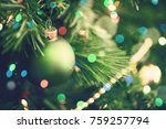 christmas tree with ornaments ... | Shutterstock . vector #759257794