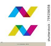 n letter vector logo template   Shutterstock .eps vector #759258058