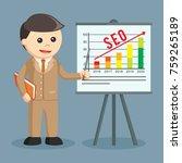 businessman presenting seo... | Shutterstock .eps vector #759265189