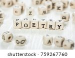 word poetry formed by wood...   Shutterstock . vector #759267760