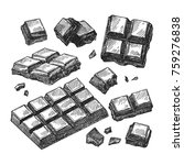 hand drawn vector sketch of... | Shutterstock .eps vector #759276838
