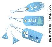 winter social media sale... | Shutterstock .eps vector #759277000