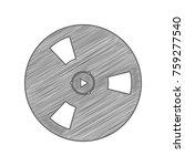 bobbin icon. film bobbin. roll  ... | Shutterstock .eps vector #759277540