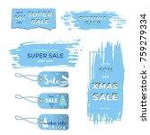 winter social media sale... | Shutterstock .eps vector #759279334