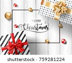 merry christmas gift boxes with ...