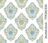 vector ornamental ethnic art ... | Shutterstock .eps vector #759282334