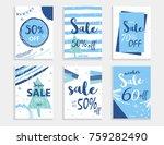winter social media sale... | Shutterstock .eps vector #759282490