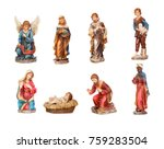 image figures for the nativity...   Shutterstock . vector #759283504