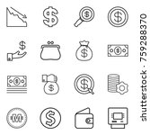 thin line icon set   crisis ... | Shutterstock .eps vector #759288370