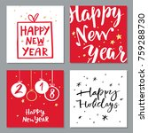 handdrawn collection of... | Shutterstock .eps vector #759288730