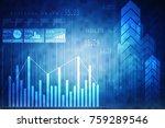 2d rendering stock market... | Shutterstock . vector #759289546