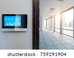 smart screen with smart home... | Shutterstock . vector #759291904