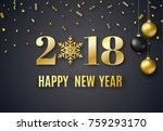 2018 new year background for... | Shutterstock .eps vector #759293170