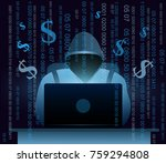 vector illustration of hacker... | Shutterstock .eps vector #759294808