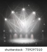 spotlight on stage for your... | Shutterstock .eps vector #759297310