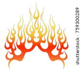 flames vector icon isolated on... | Shutterstock .eps vector #759300289