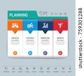 success direction  template... | Shutterstock .eps vector #759301288