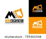 excavator and backhoe logo... | Shutterstock .eps vector #759302548