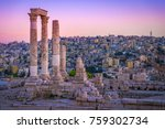 amman  jordan its roman ruins... | Shutterstock . vector #759302734