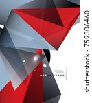 geometrical abstract triangle... | Shutterstock .eps vector #759306460