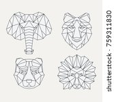polygonal geometric wolf ... | Shutterstock .eps vector #759311830
