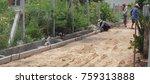 workers were building a... | Shutterstock . vector #759313888