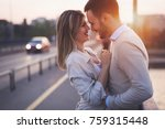 beautiful couple in love dating ... | Shutterstock . vector #759315448