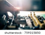 electronic engineer of computer ... | Shutterstock . vector #759315850