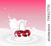 vector illustration of milk... | Shutterstock .eps vector #759317770