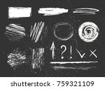 chalk graphic elements... | Shutterstock .eps vector #759321109